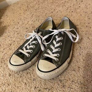 Men's Grey Converse (Size 7)